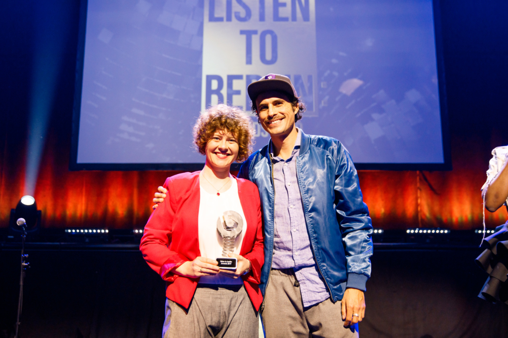 Konstanze Meyer picks up the Sustainability award for Clubtopia